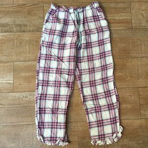 Joe Boxer 🍬 Purple & Blue Ruffled Plaid Pj Pants